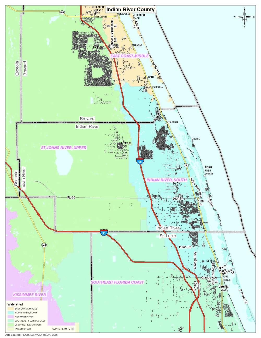 Maps MANATEE INDIAN RIVER LAGOON ENDANGERED SPECIES ACT CASE - Indian river lagoon map
