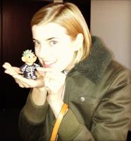 Agyness Deyn   model/actress/designer  (with my succulent troll)