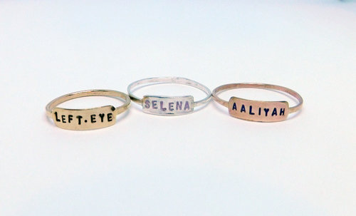 two gp any rings personalized nikfine plate finger name