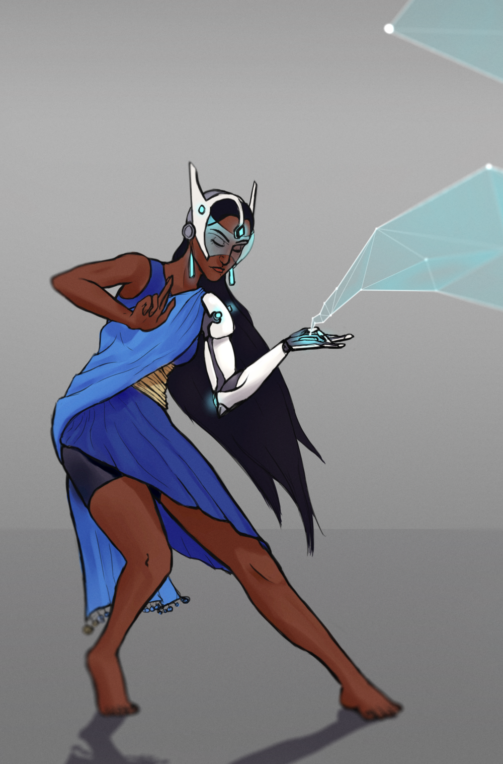 Symmetra from Blizzard's character-based FPS Overwatch. Had a lot of fun doing the research for the alternate costume, Indian clothing is not really something I'm familiar with.