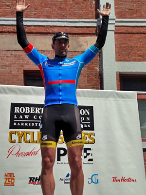 Michael Parrish looking good in blue as the BC Premier Series leader.