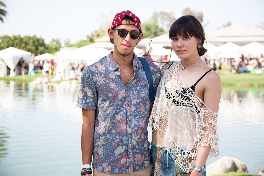 One of the best things about Coachella, is the surplus of good vibes and positive energy--total breeding ground for new friends! Loved meeting fellow bloggers  Freddy Rodriguez  and  Natalie Suarez  at the Lacoste L!VE Desert Pool Party.