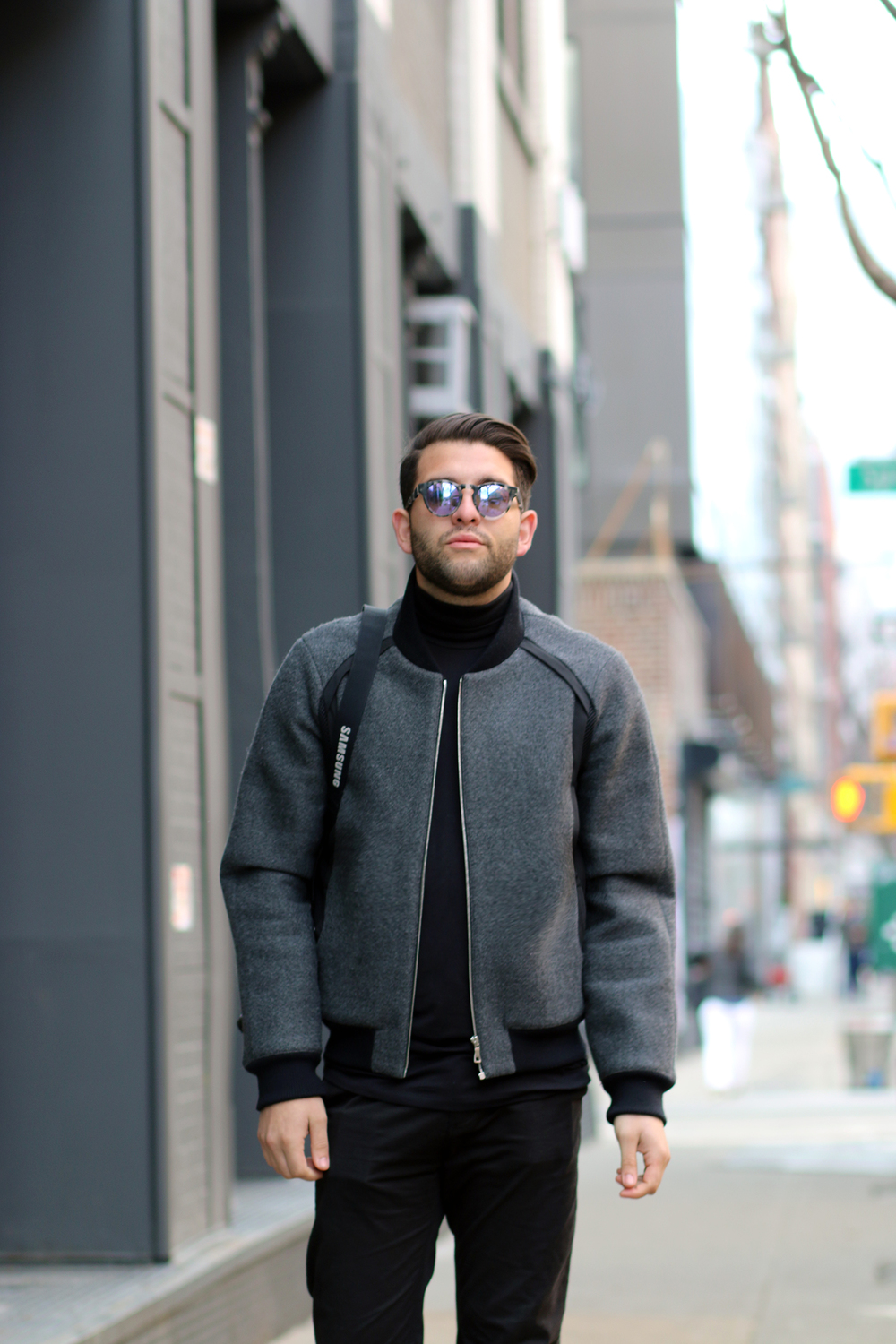 Garcia Velez Jacket/ Westward Leaning Sunglasses