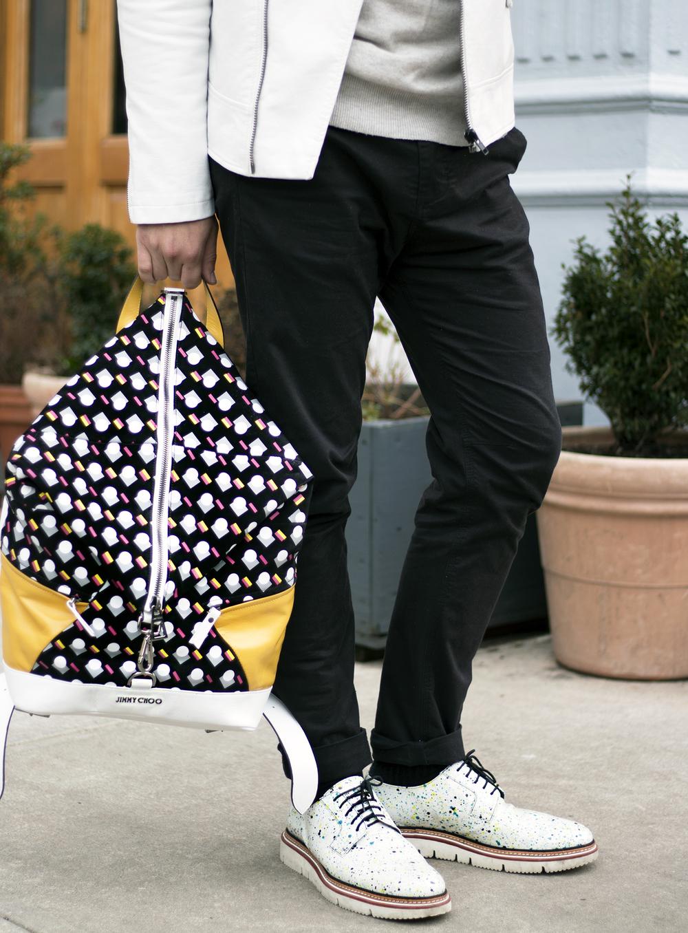 Jimmy Choo Backpack and Shoes
