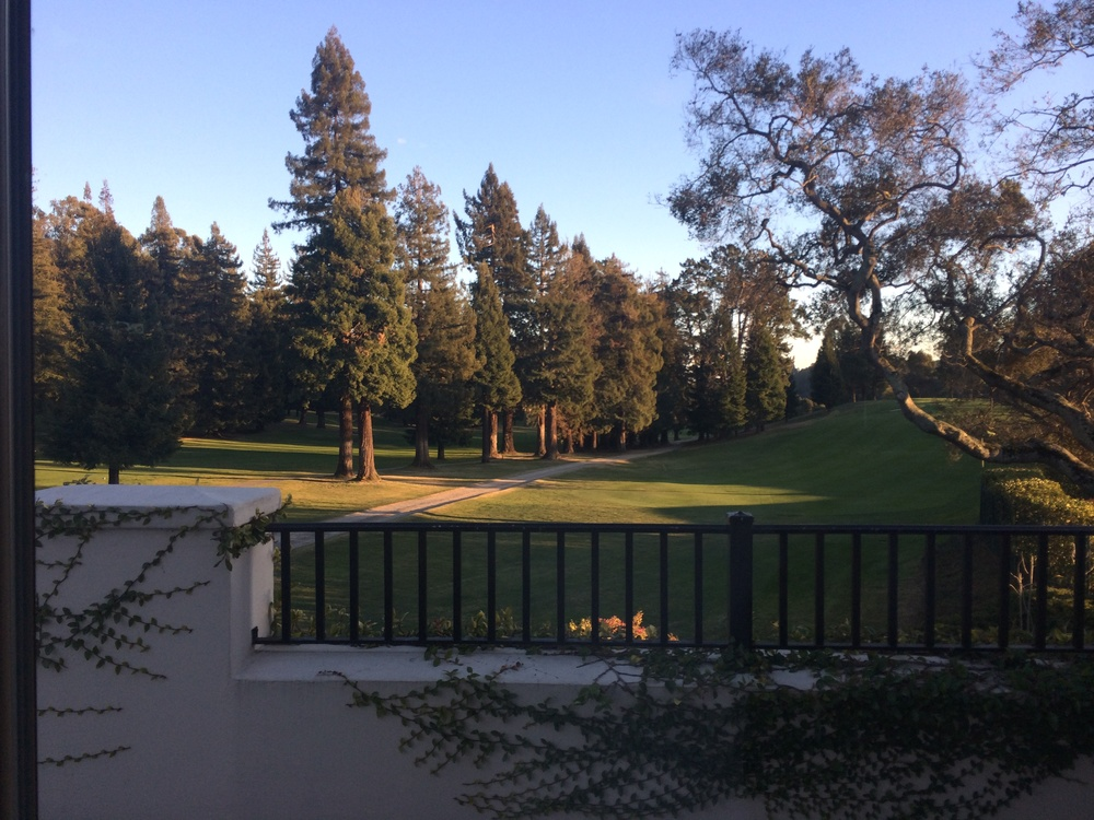 A shot of the golf course from the outdoor patio
