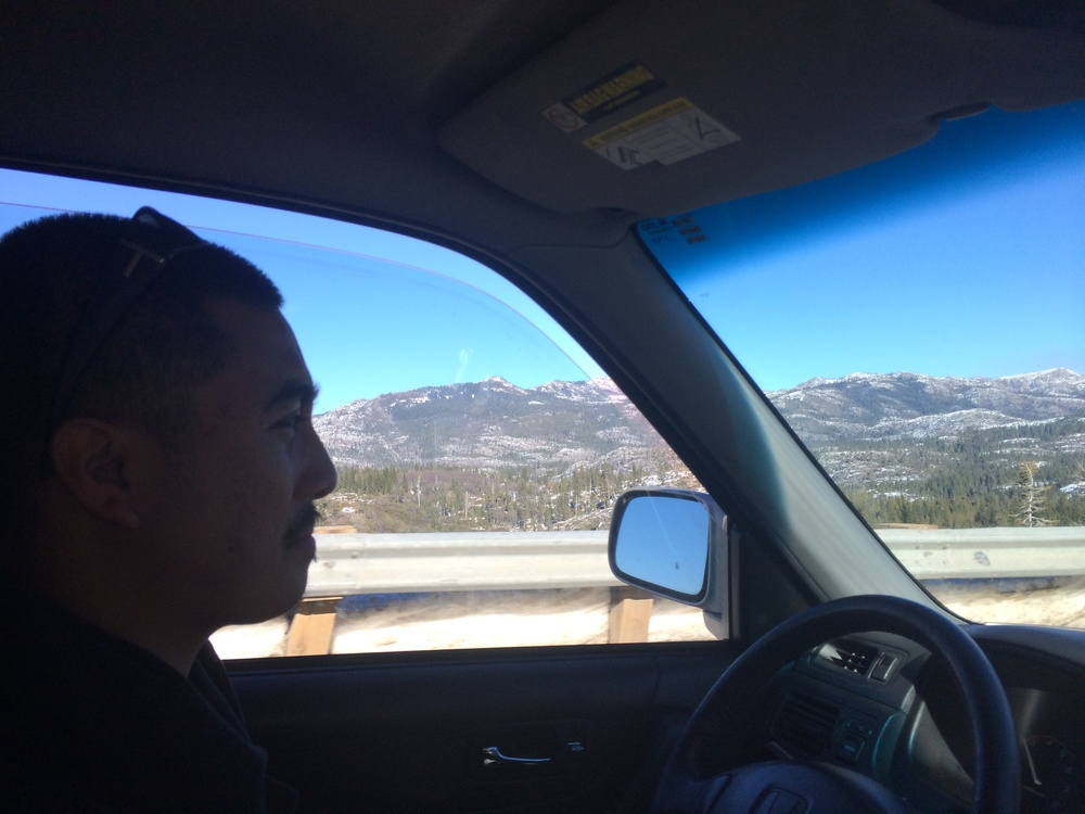 Paul making the drive up to Lake Tahoe from San Francisco =)