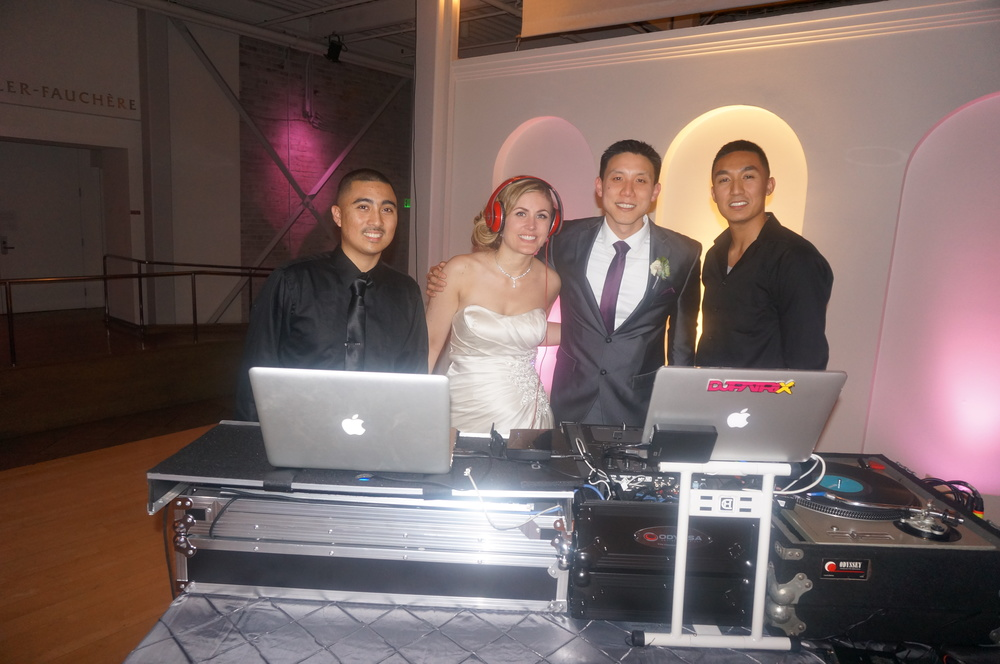 Method DJs: Paul & Patrick with the newly weds: Allison & Darren