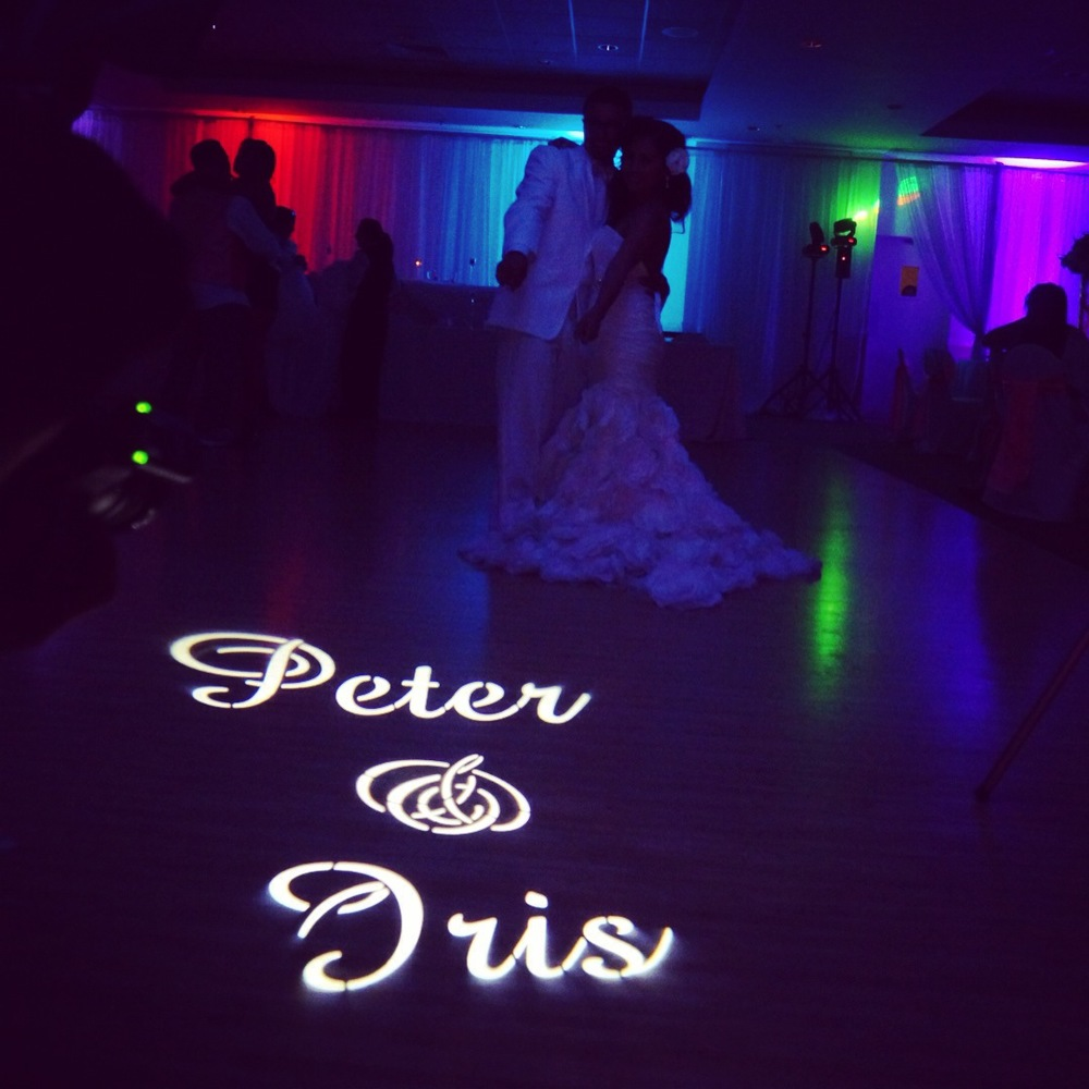 Custom GOBO for a nice lighting effect.