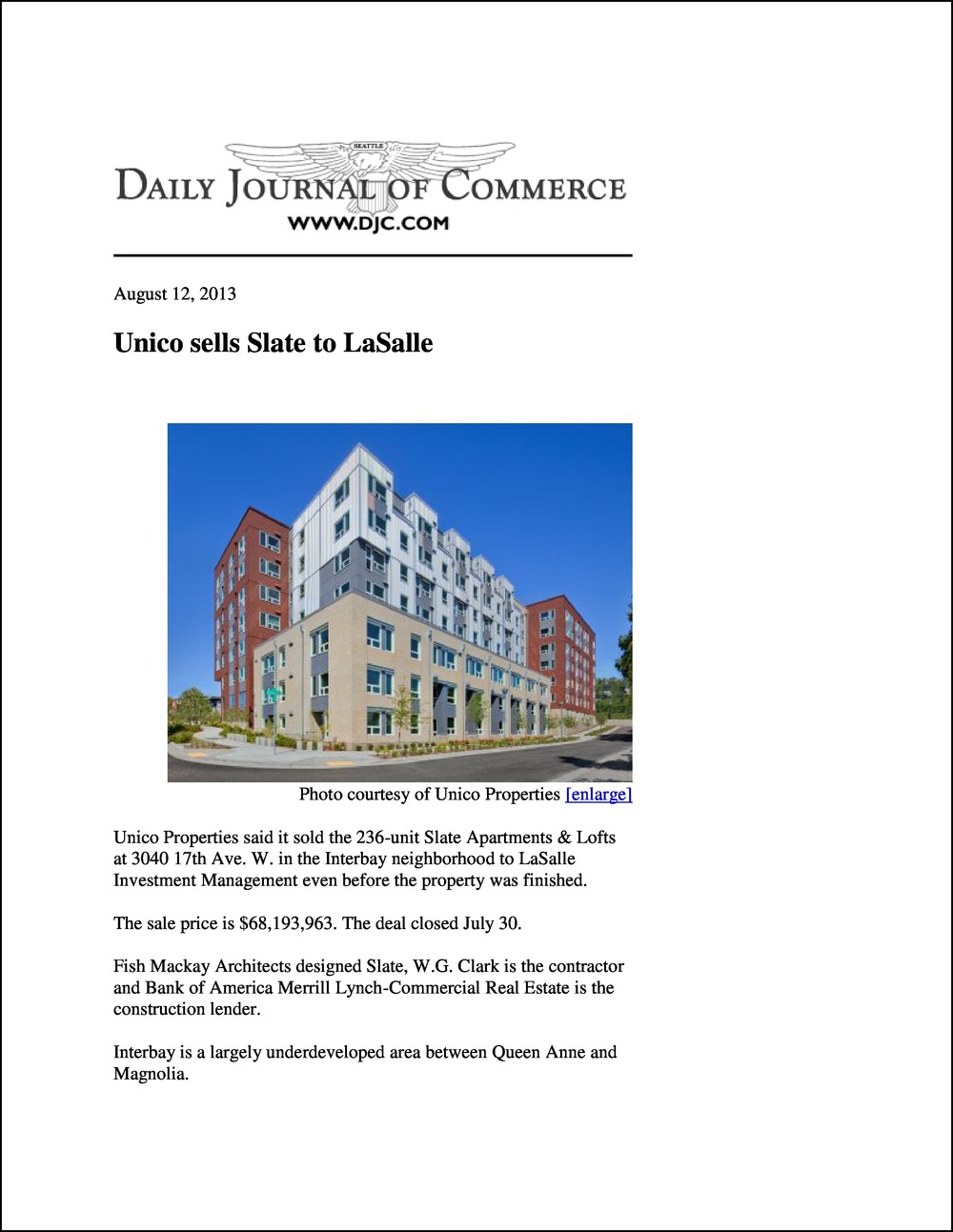 Daily Journal of Commerce 08122013