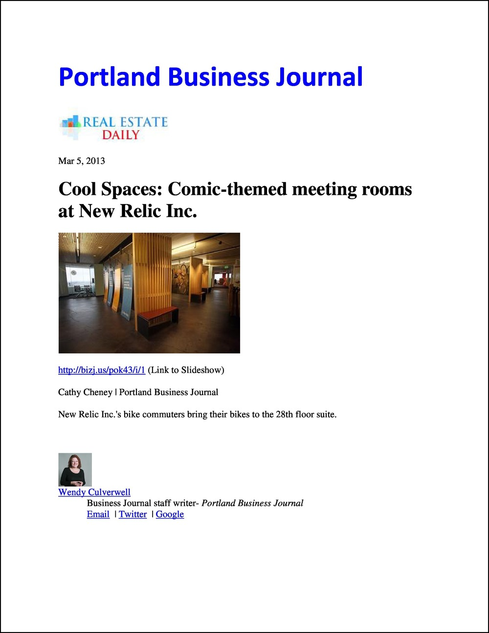 Portland Business Journal RE-Daily 03052013