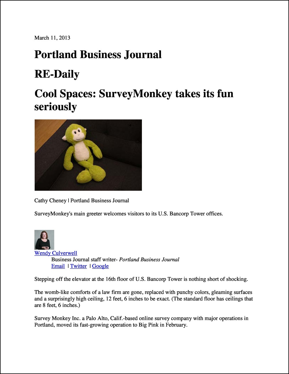 Portland Business Journal RE-Daily 03112013