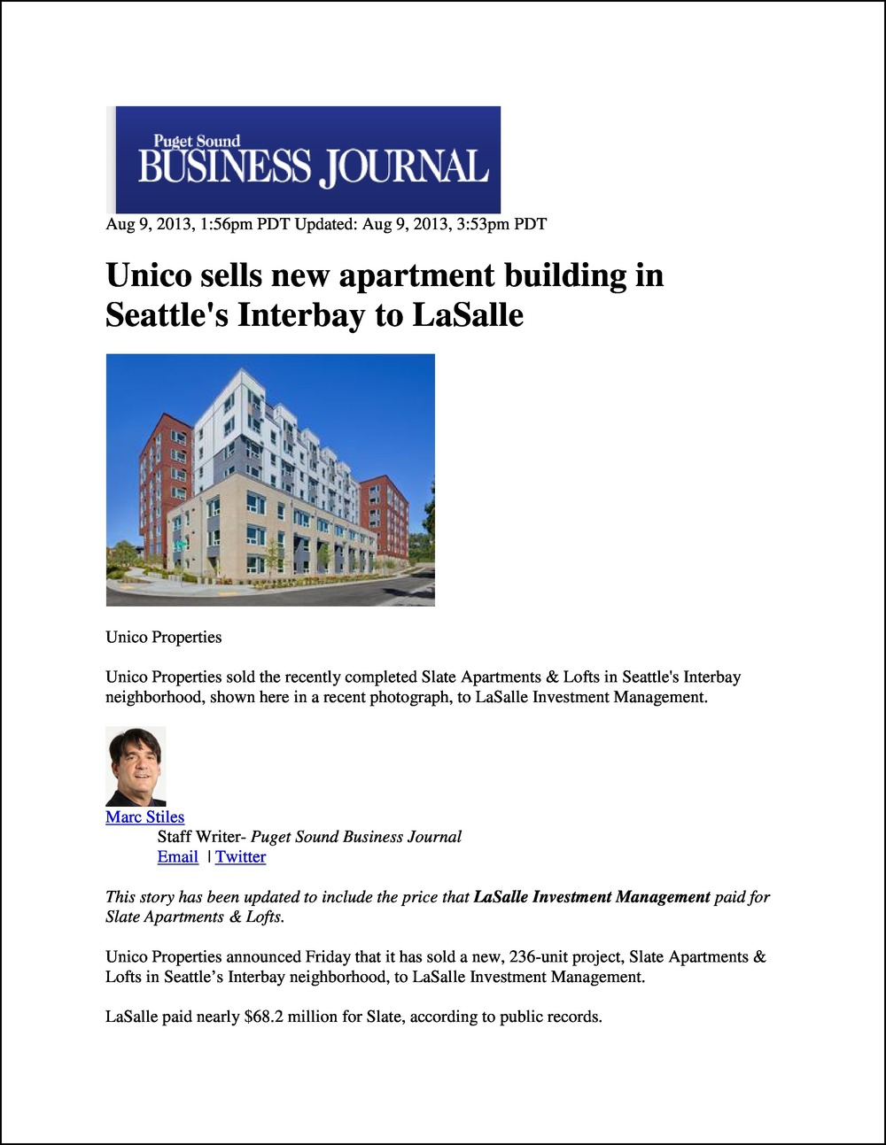 Portland Business Journal 08092013