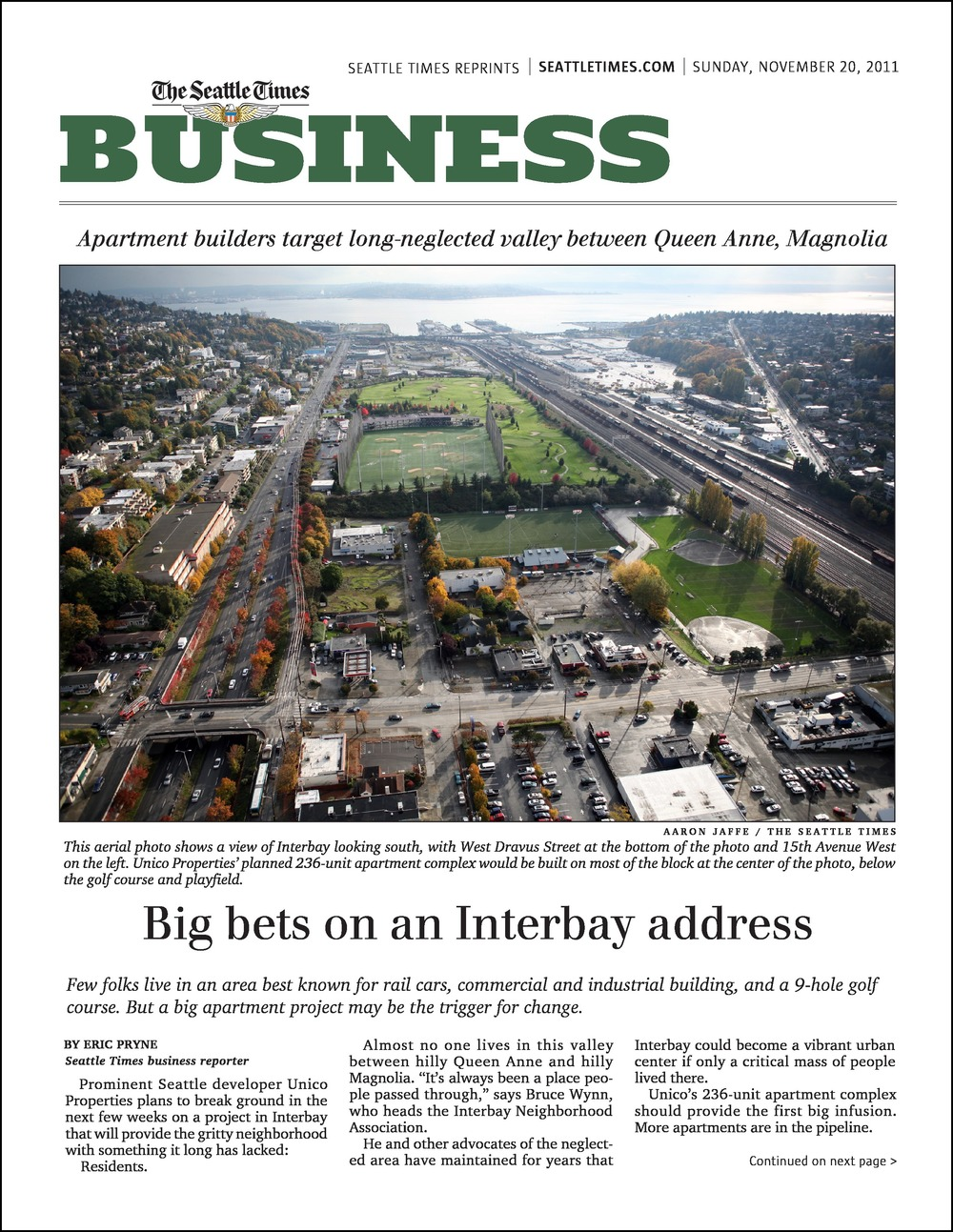 Sunday Seattle Times 11202011