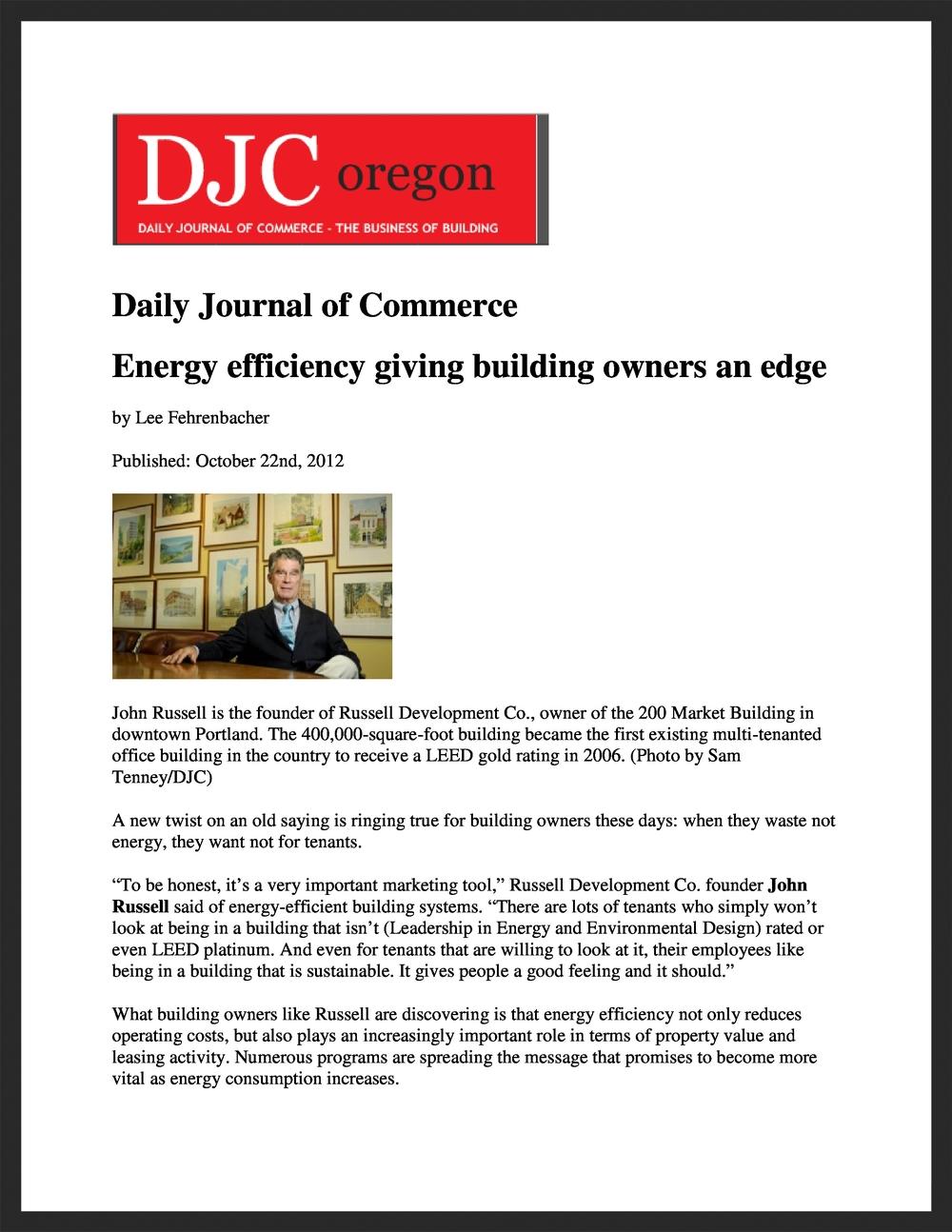 BOMA OREGON  DJC Oregon  10.22.2012