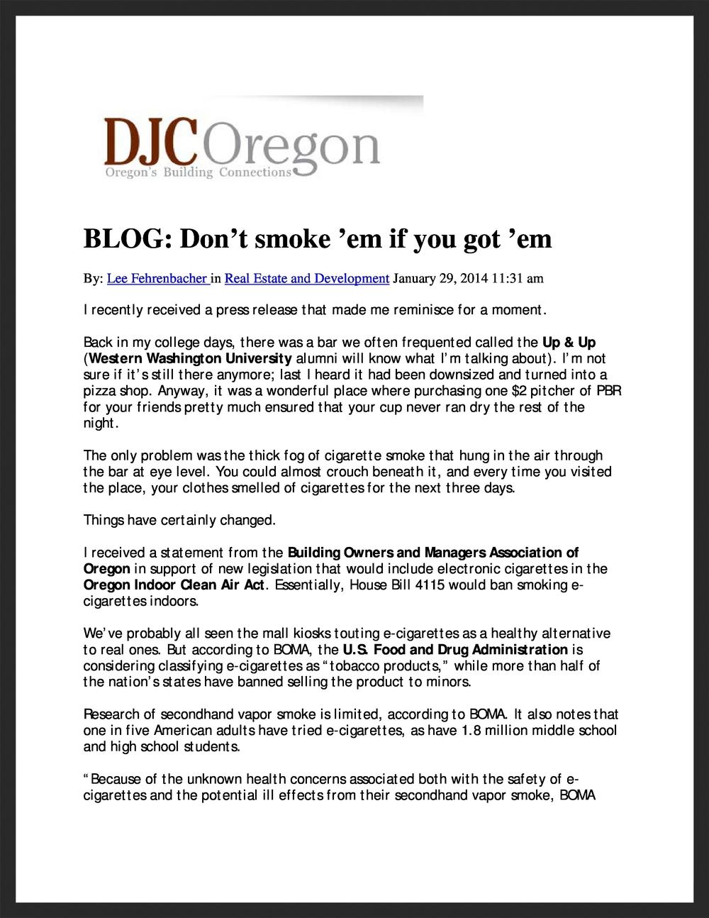 BOMA OREGON   DJC Oregon    01.29.2014
