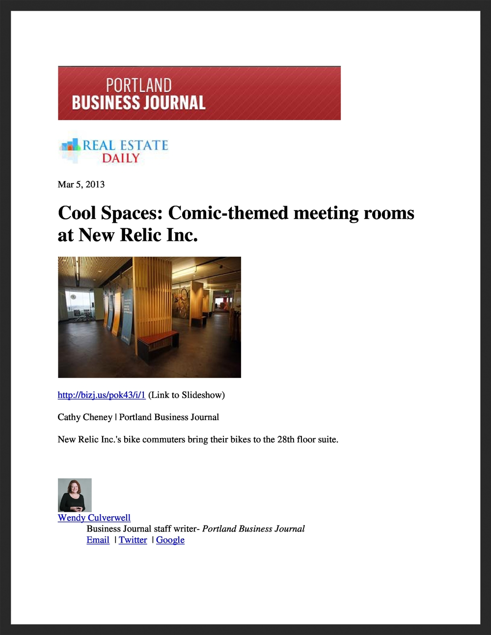 UNICO  Portland Business Journal  03.05.2013