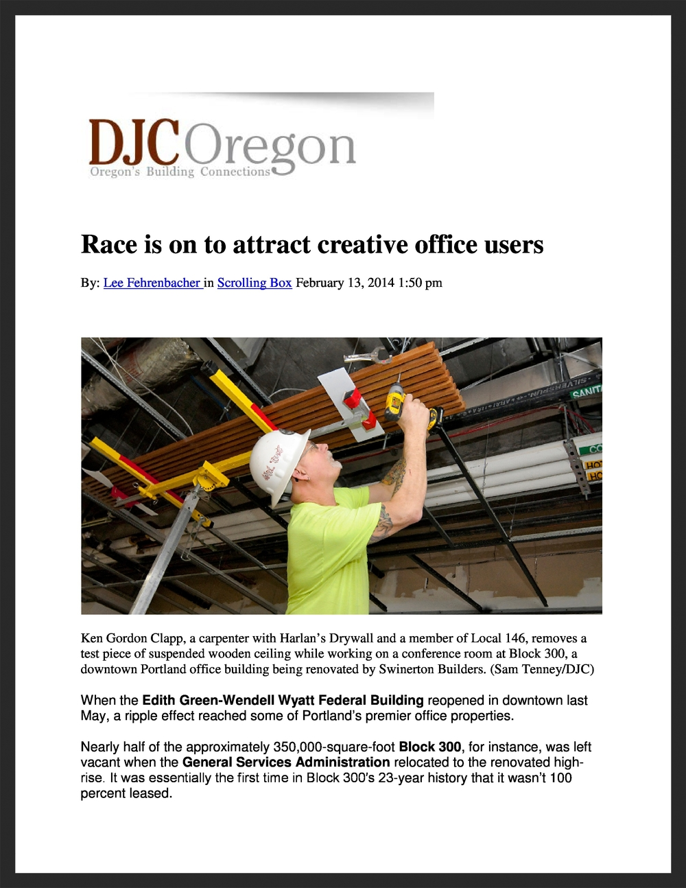 UNICO  DJC Oregon  02.13.2014