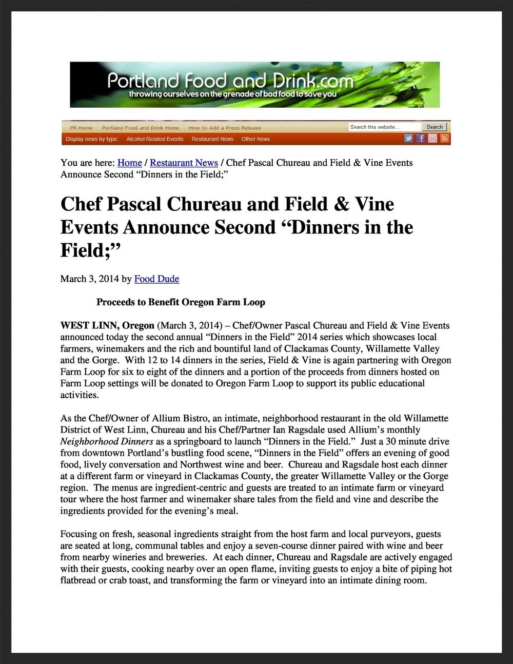 FIELD & VINE  PortlandFoodandDrink.com  03.03.2014