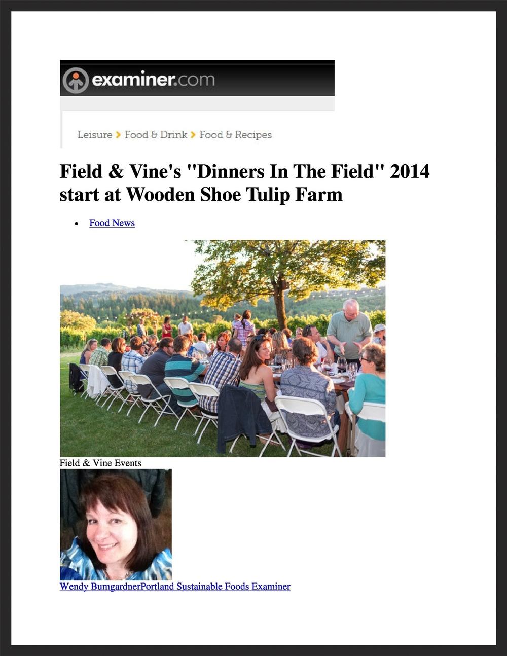FIELD & VINE  Examiner.com  03.18.2014
