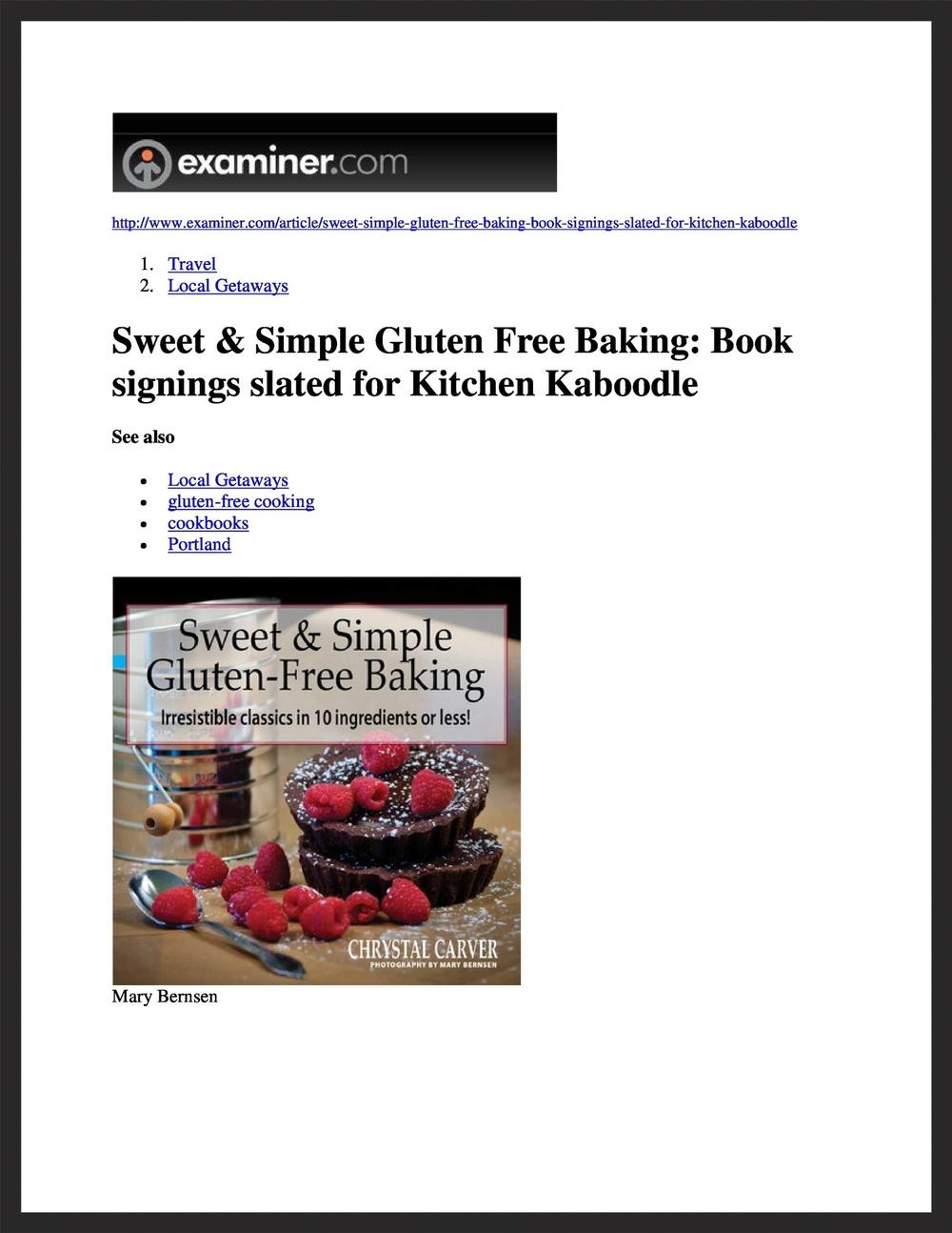CHRYSTAL CARVER  Examiner.com  09.09.2014