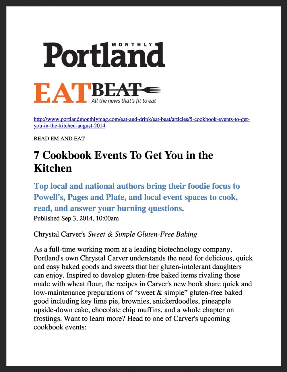 CHRYSTAL CARVER  Portland Monthly  09.03.2014