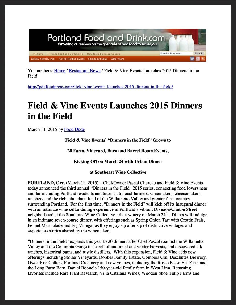 FIELD &VINE  PortlandFoodandDrink.com  03.11.2015