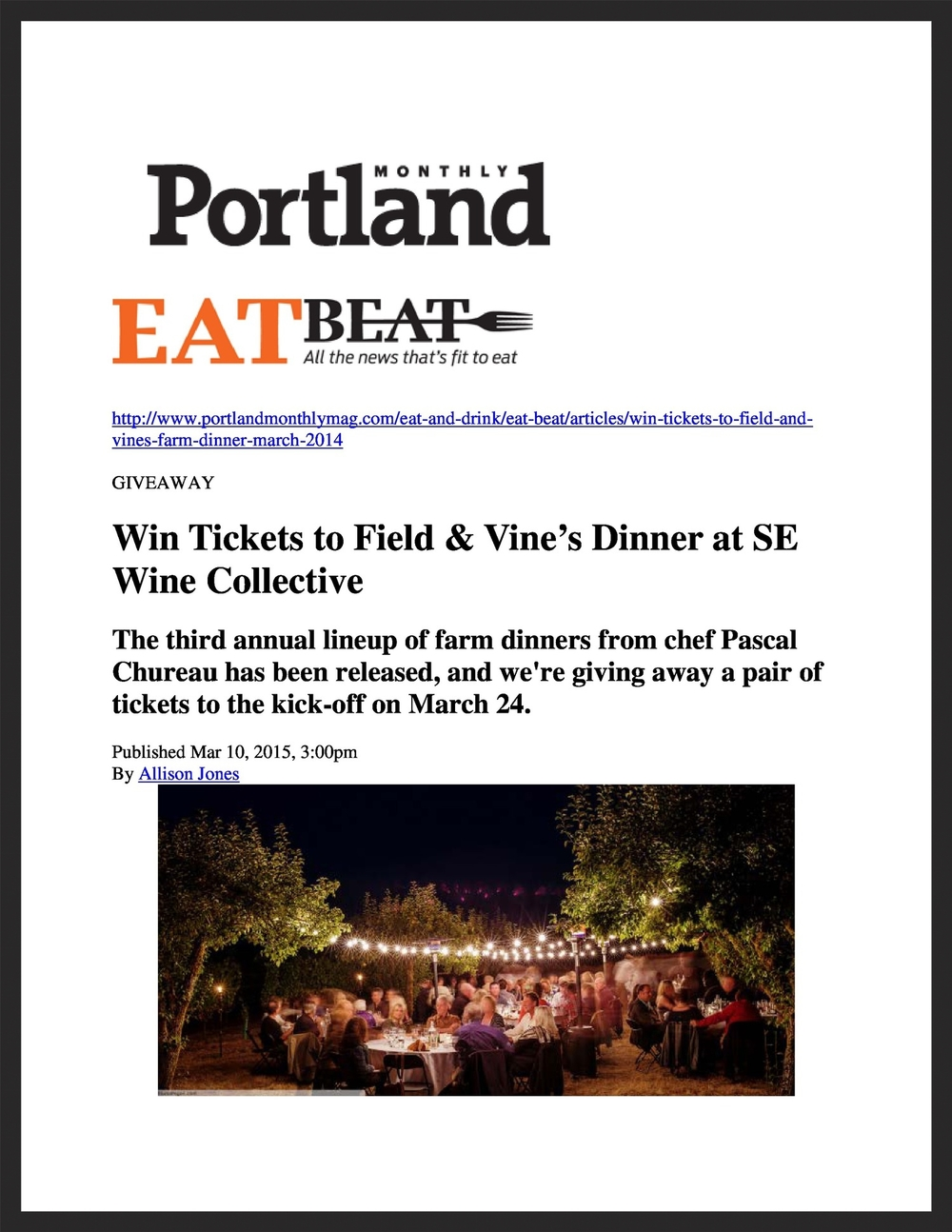 FIELD & VINE  Portland Monthly  03.11.2015