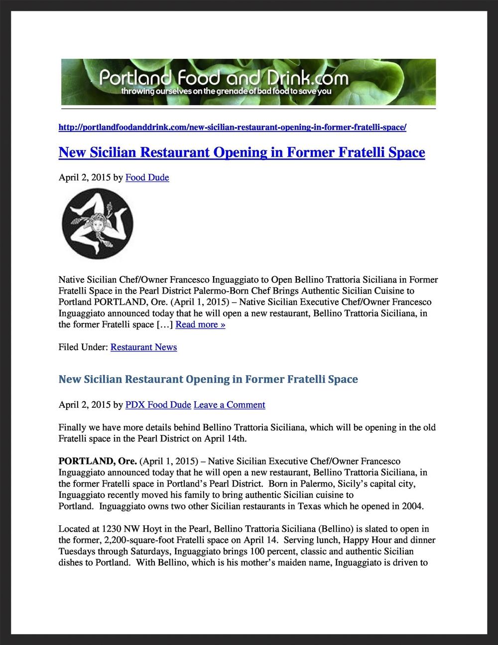 BELLINO TRATTORIA SICILIANA   PortlandFoodandDrink.com  04.02.2015