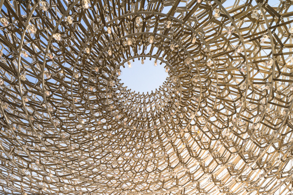 close up of uk pavilion, milan expo,  by mark hadden architecture photographer