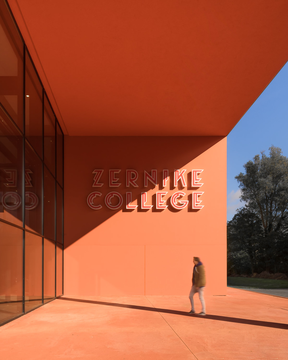 entrance at zernike college by mark hadden architectuurfotograaf, amsterdam
