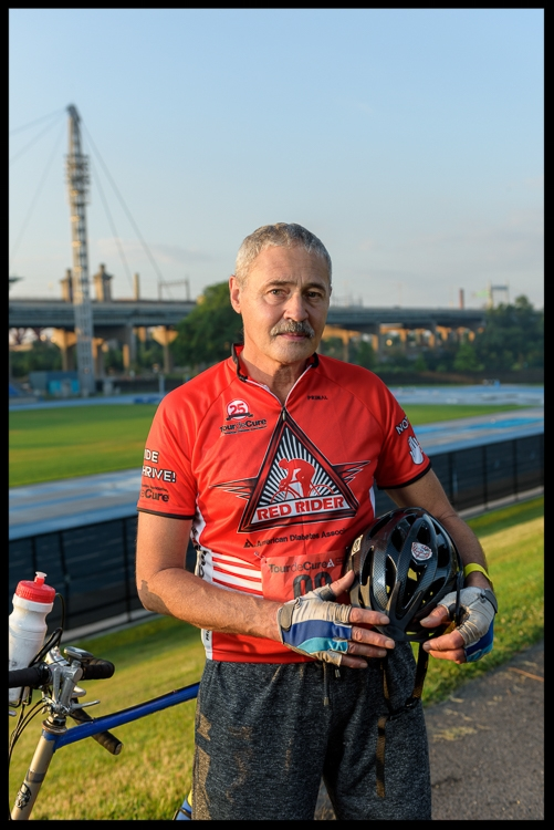 "42 years ago Tony was diagnosed with T1 diabetes. Along the way there has been ups and downs but the one constant has been bike riding which is Tony's passion. Before the 2016 NYC ADA Tour deCure fundraising event, Tony reflected, ""The complications of the disease are always on my mind, they worry and scare me. For me biking is the one thing that relieves me of all of the troubling thoughts and concerns associated with diabetes."" Tony finds his courage to be a diabetes hero everyday on his bicycle."