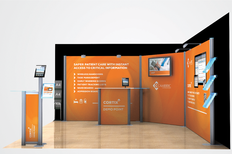 Simple Exhibition Stand Mockup : Exhibition stand design — creative graffix