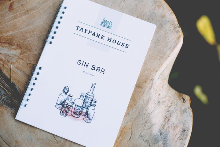 Taypark House Gin Menu