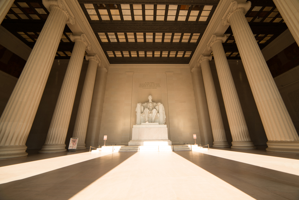 Interior of the Lincoln Memorial