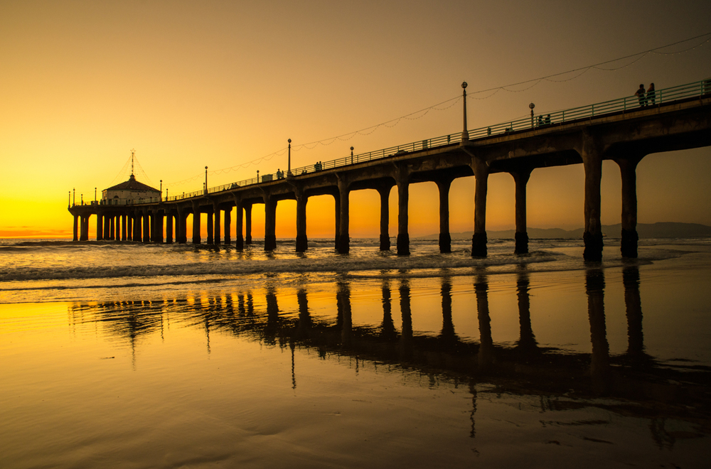 Manhattan Beach Pier during Sunset, Los Angeles