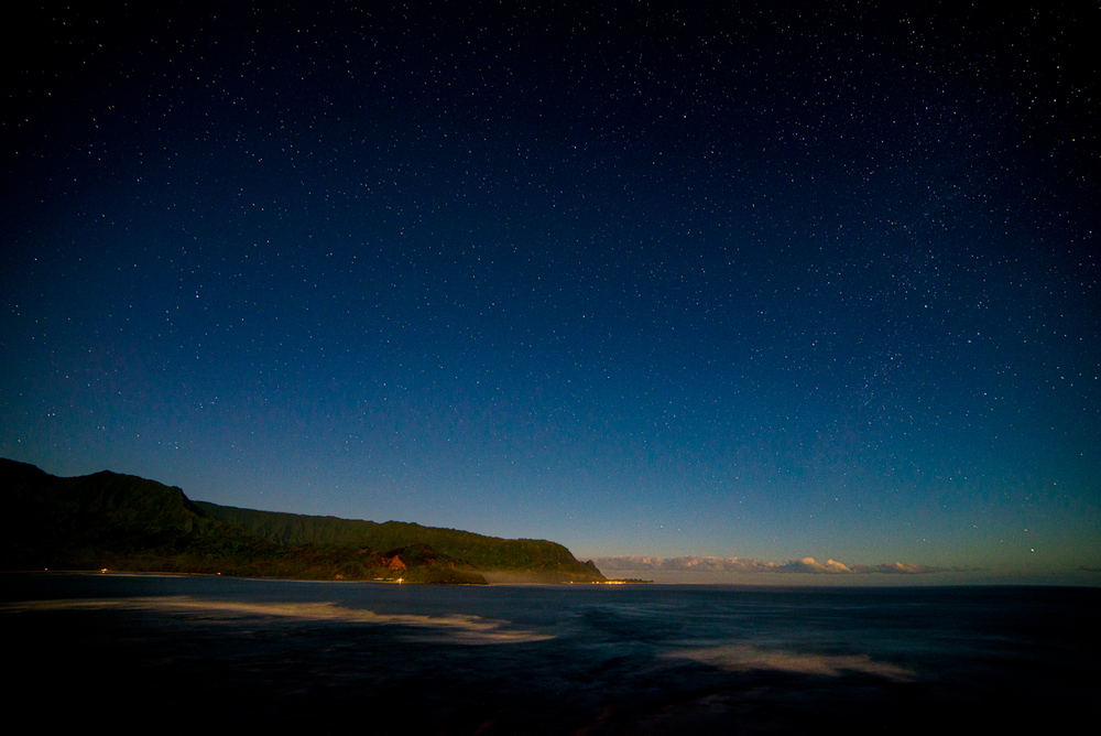 Hanalei Bay at Night