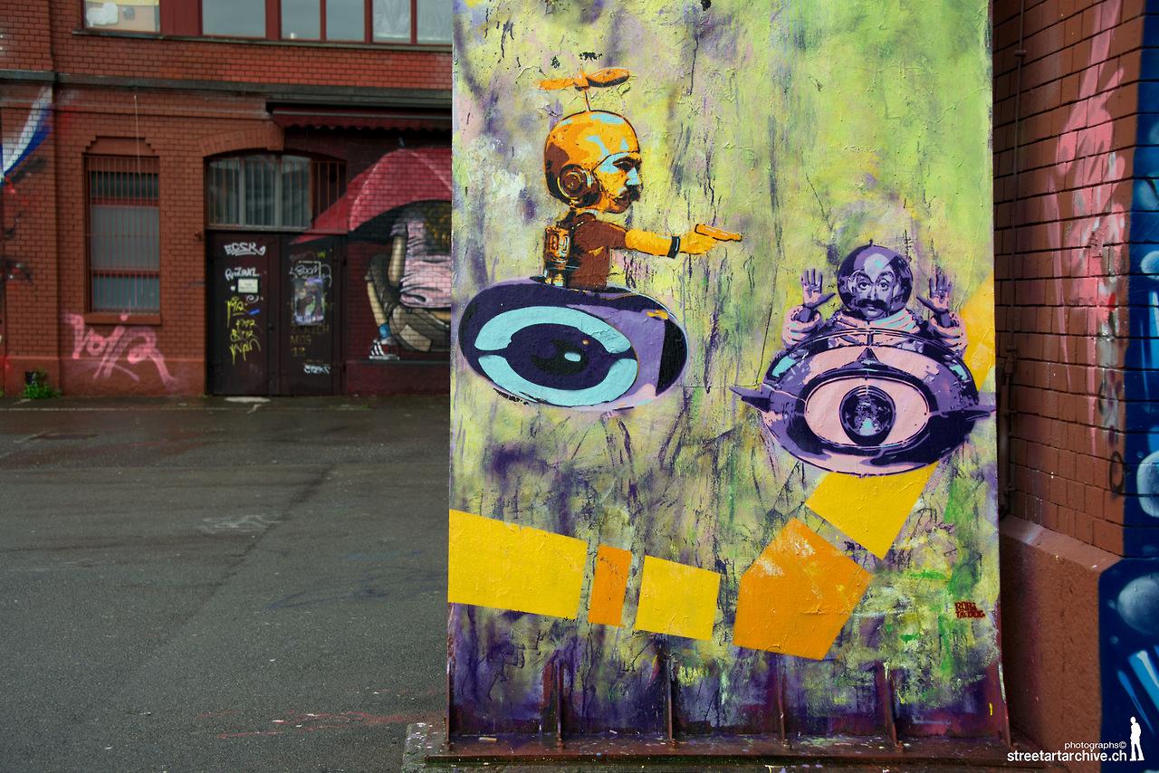 Ich krieg nicht genug von streetartarchive-zuerich 's Arbeit, all die Zürcher Streetart Kostbarkeiten auf Bild zu bringen. Dieses witzige Meisterwerk findet sich bei der Roten Fabrik im Kreis 2, ROBI THE DOG!