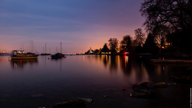 Farbenprächtige Sicht unseres wunderbarem Zürichsee's. Aufgenommen von xa4