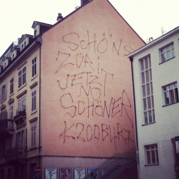ellegantc hat was entdeckt, ob Zürich nun schöner ist, ist zu bezweifeln, nichts desto trotz eine Impression unserer schönen Stadt…
