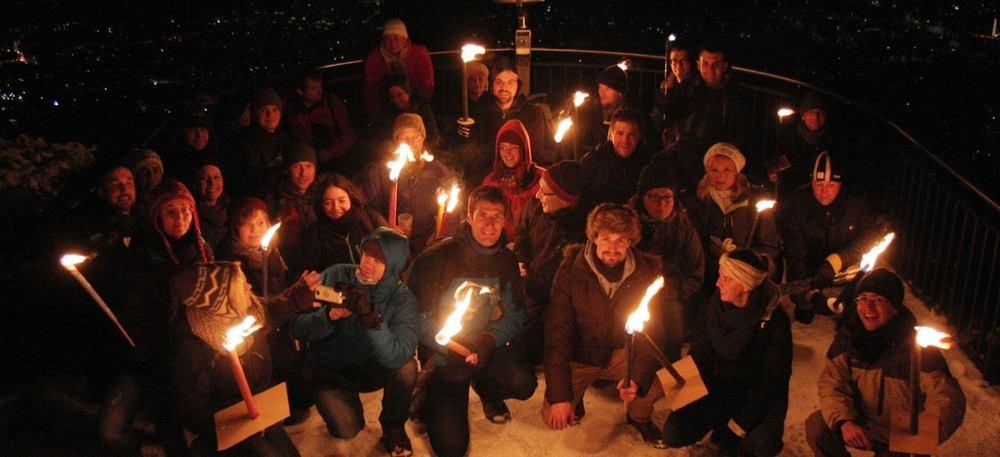 Vergangene Nachtwanderung der Community Foto : Human Connection Zuerich Facebook