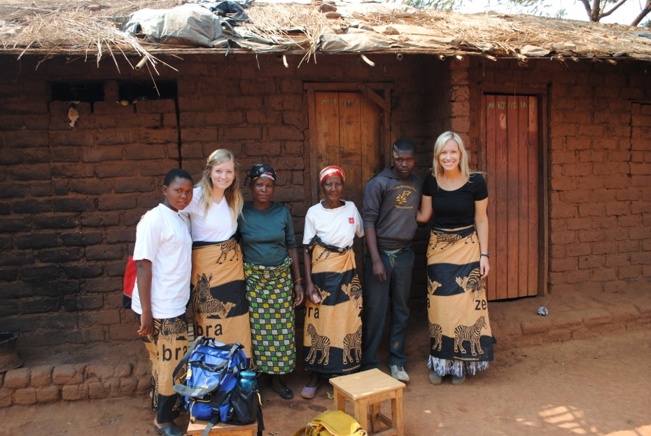 Robyn Batts and Lizzie Randazzo visiting the homes of several Market Colors craftsmen in Malawi.
