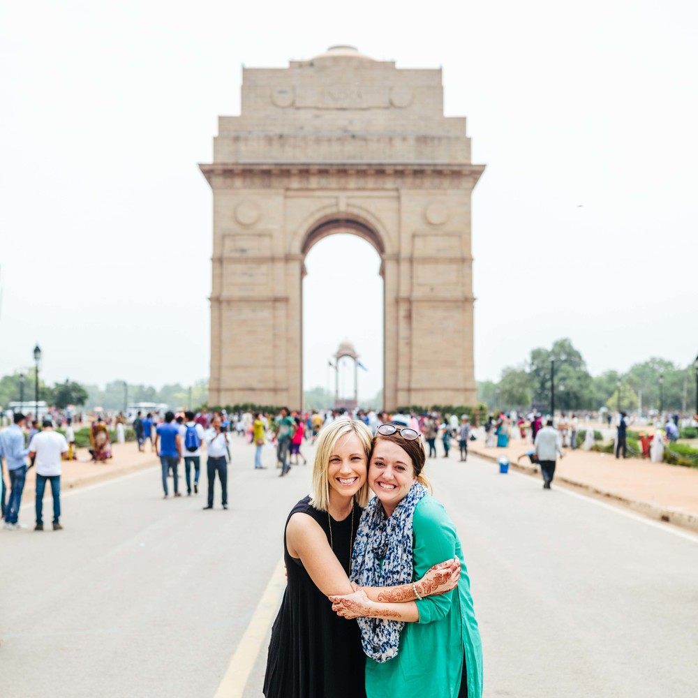 Allee & I at the Gate of India.