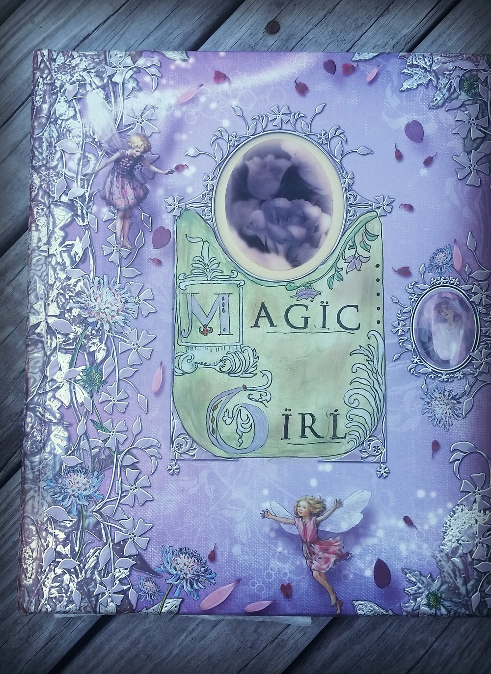 Cover of Magic Girl, a journal I made using an existing children's book.