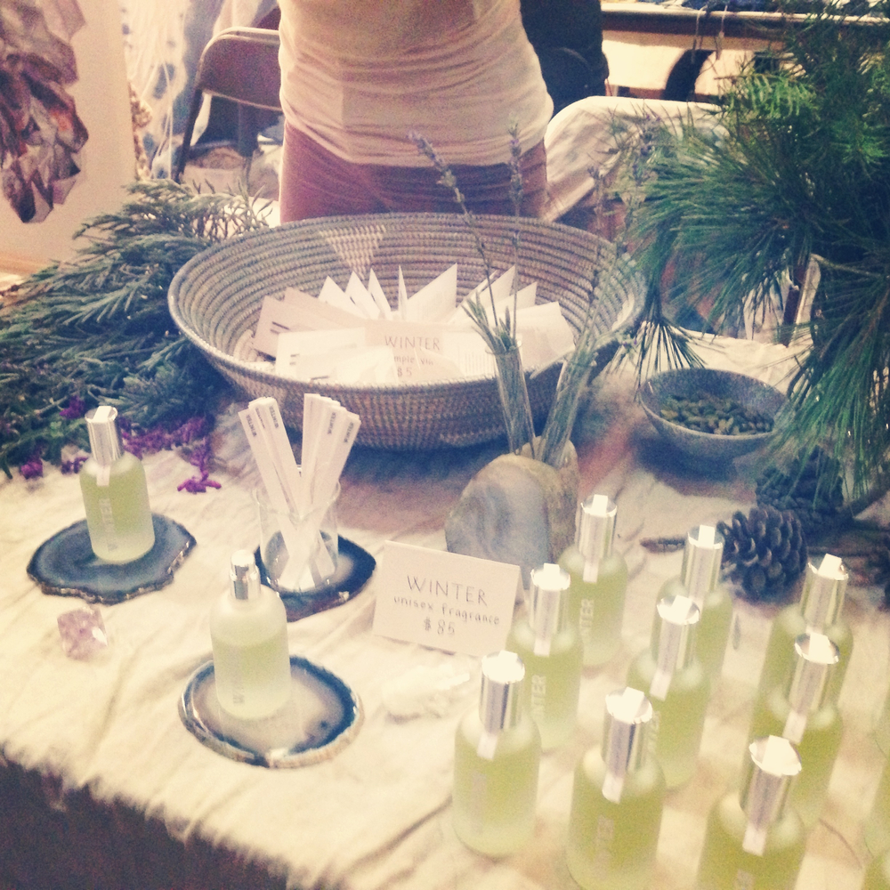 WINTER unisex fragrance at the Echo Park Craft Fair