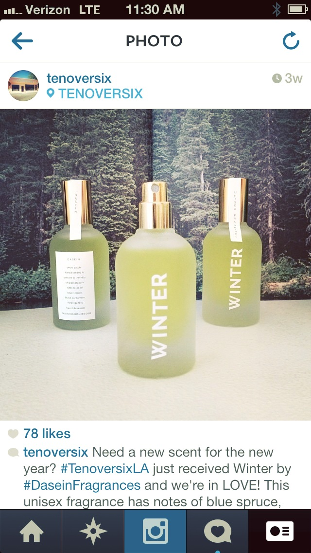 Winter unisex fragrance at tenoversix