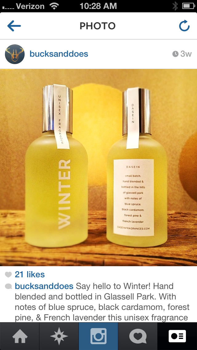 WINTER fragrance at Bucks & Does