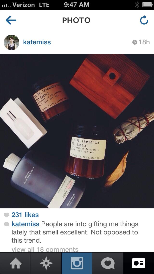 winter fragrance sample vial on kate miss insta