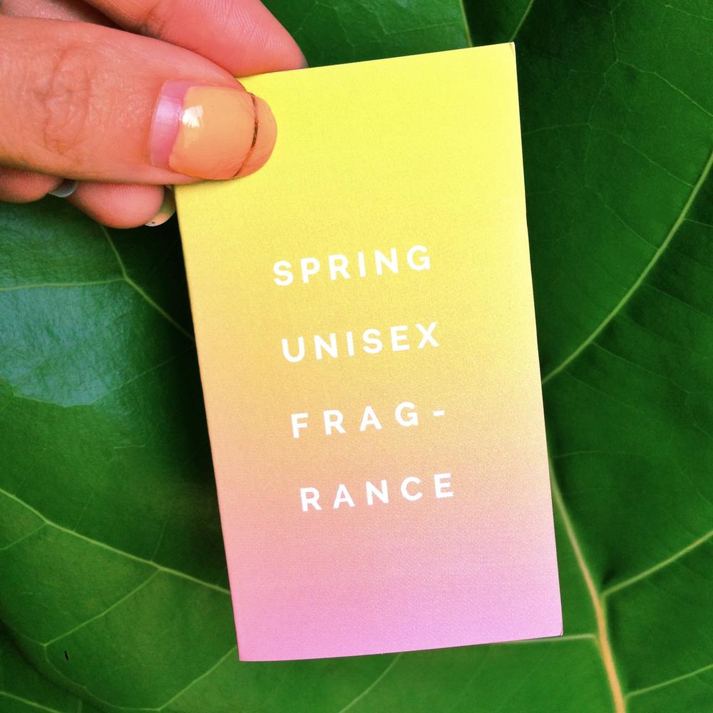 SPRING unisex fragrance sample