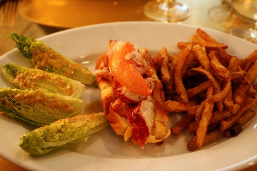 The signature dish a Lobster Bar