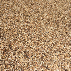 PEA GRAVEL   Composition:  3/8 inch in size, smooth round pebbles, multi-colored earth tones   Applications:  This is a great material for decorative driveways, pathways, French drains, playgrounds and picnic areas. It also can be used in the bottom of garden planters, containers, pots and flower boxes for drainage.    $55.00 Per Cubic Yard